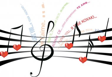 Love song in different languages