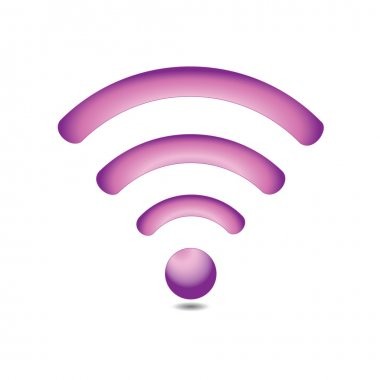 Simple and elegant wireless network symbol. stock vector