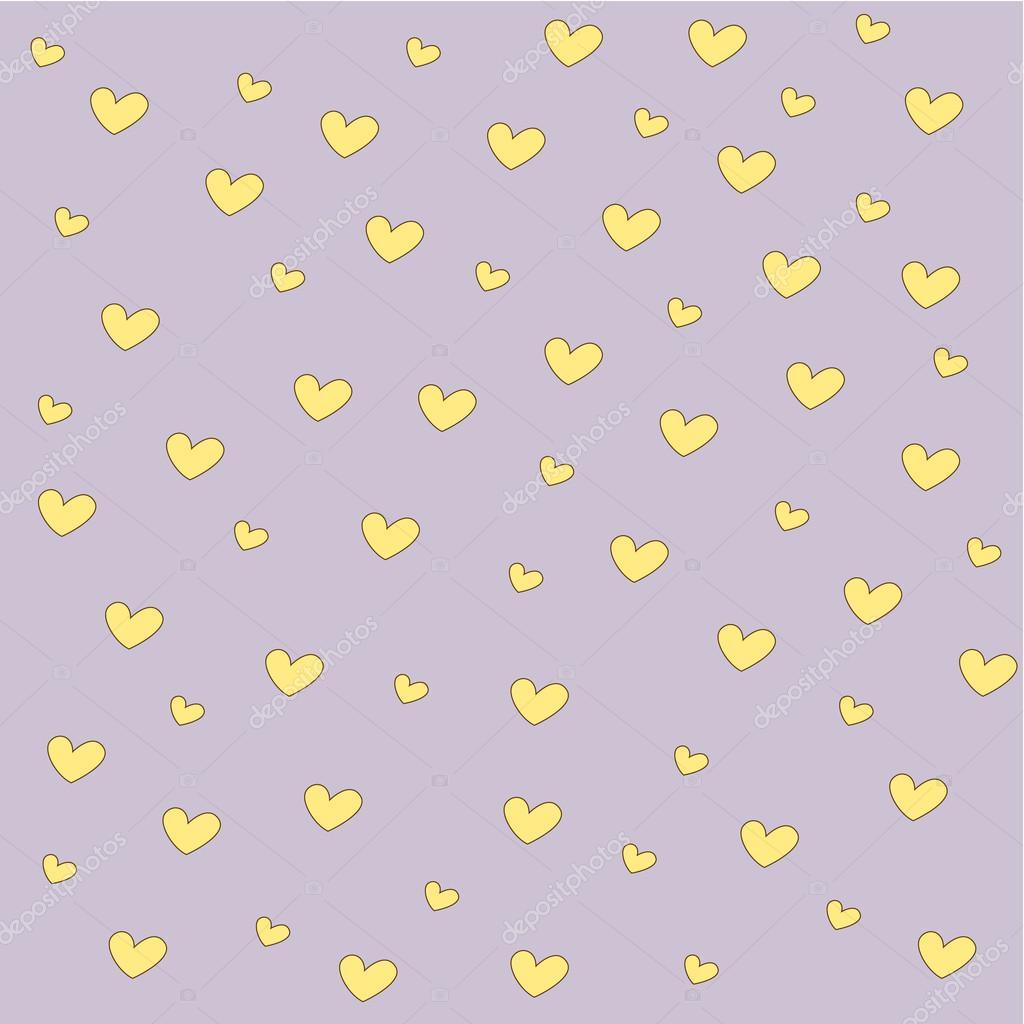 fond coeur jaune — Image vectorielle #22426869