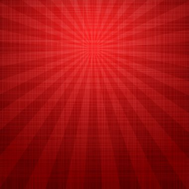 Abstract grunge red background with rays