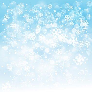 Winter light blue background