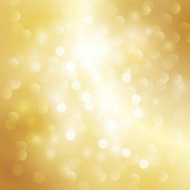 Gold bokeh background