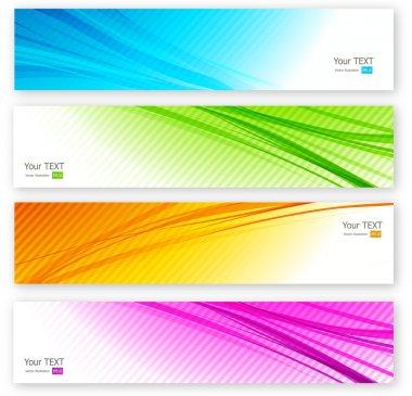 Set of color banner. Four colors
