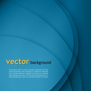 Blue smooth twist light lines vector background.