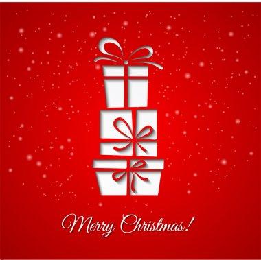 Vector illustration Christmas decoration paper background. EPS 10 clip art vector