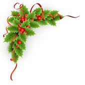 Weihnachten Stechpalme mit Beeren.