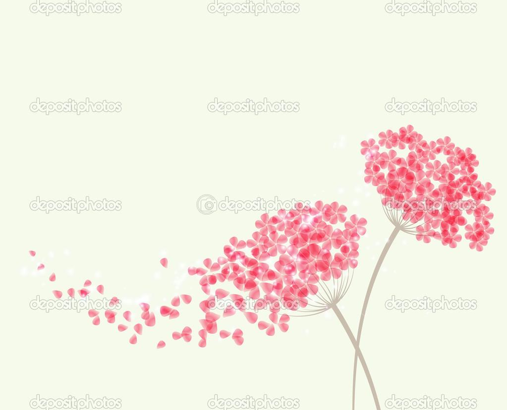 Romantic background with flowers hydrangea
