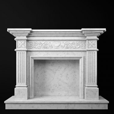 natural marble fireplace