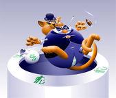 Fotografie No Fat Cats 3: Cat in the Trash