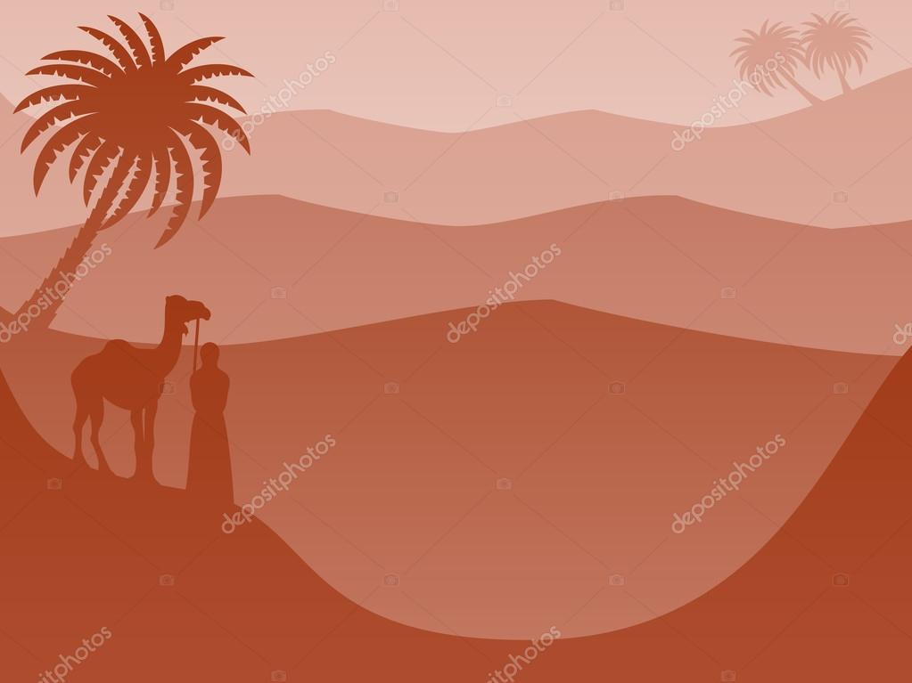 Layered Landscape Background: Desert Red