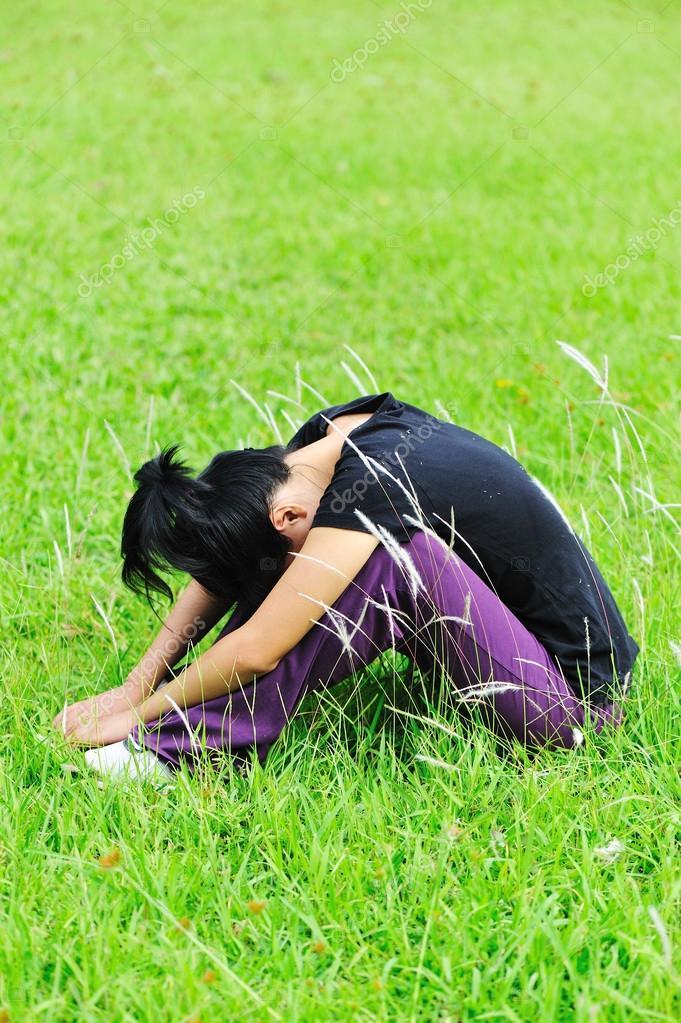 Depress woman