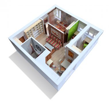 Model of the apartment