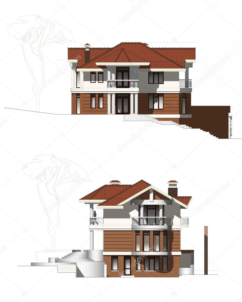 Moderne Bauernhaus Stockfoto C Alexandralarin5 42162211