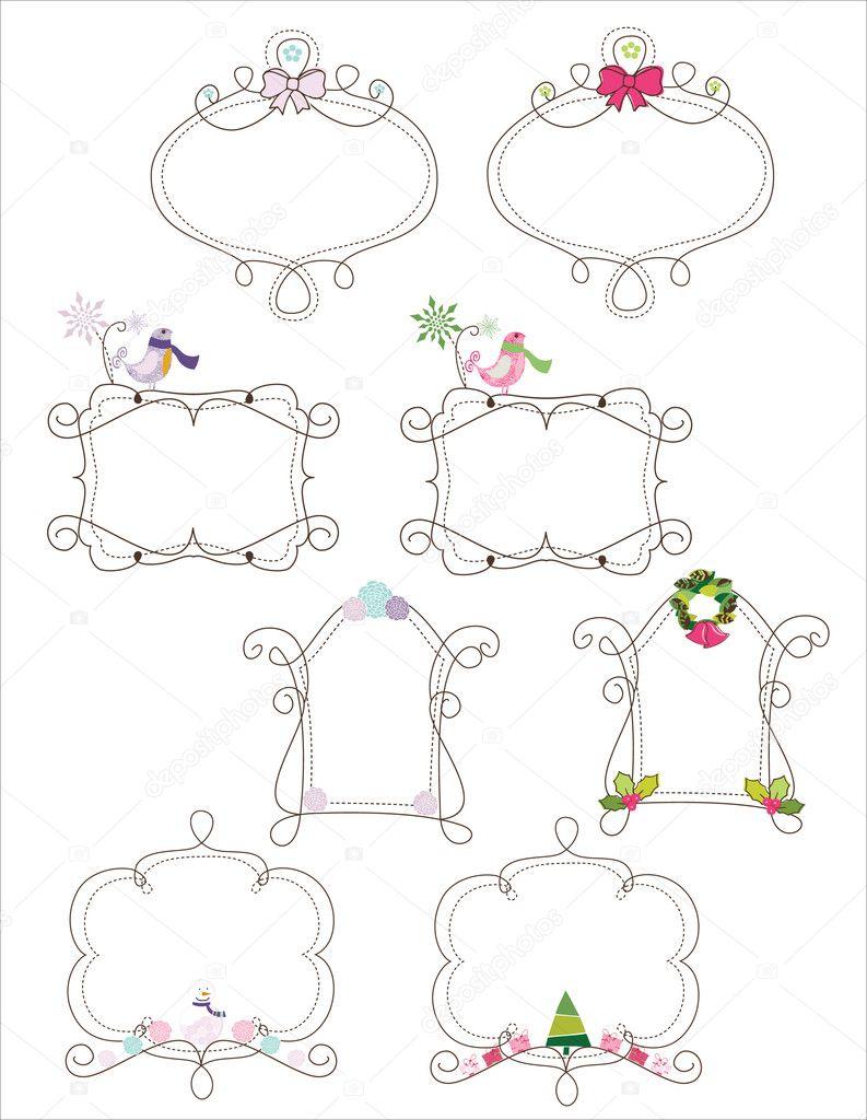Doodle winter frames