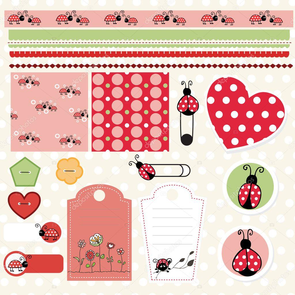 Ladybug lovely element set