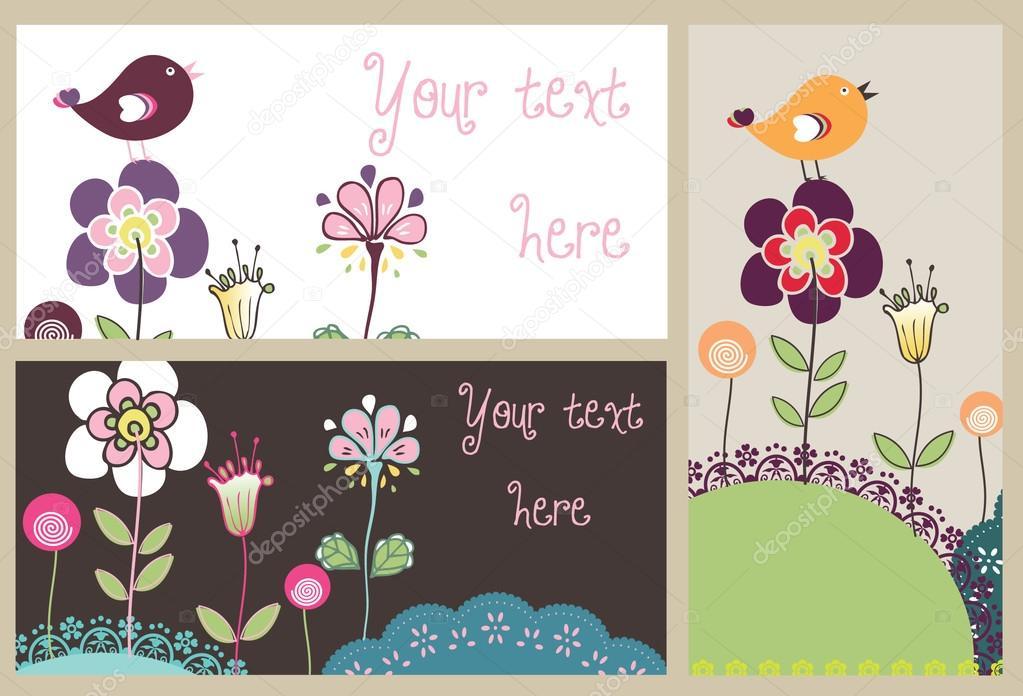 Nature card set