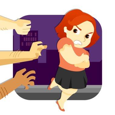 Woman escaping Assault