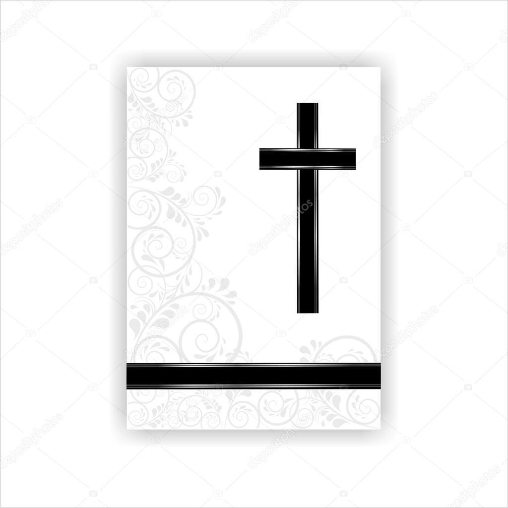 Imágenes Esquelas Para Escribir Tarjeta De Condolencias Vector