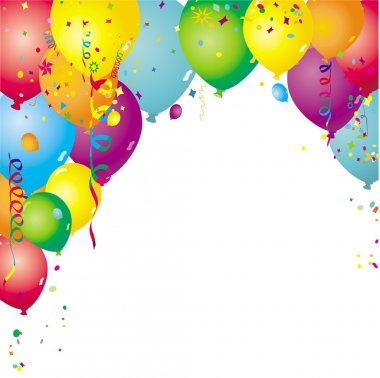Background with ballons