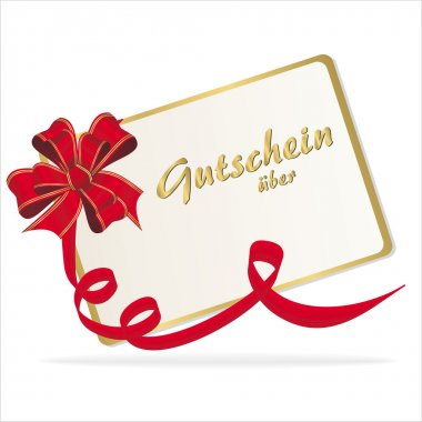 Coupon with ribbon