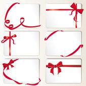Fotografie satz von red ribbons