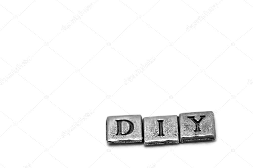 Metal Scrapbooking Letters Spelling Diy Stock Photo Talanis