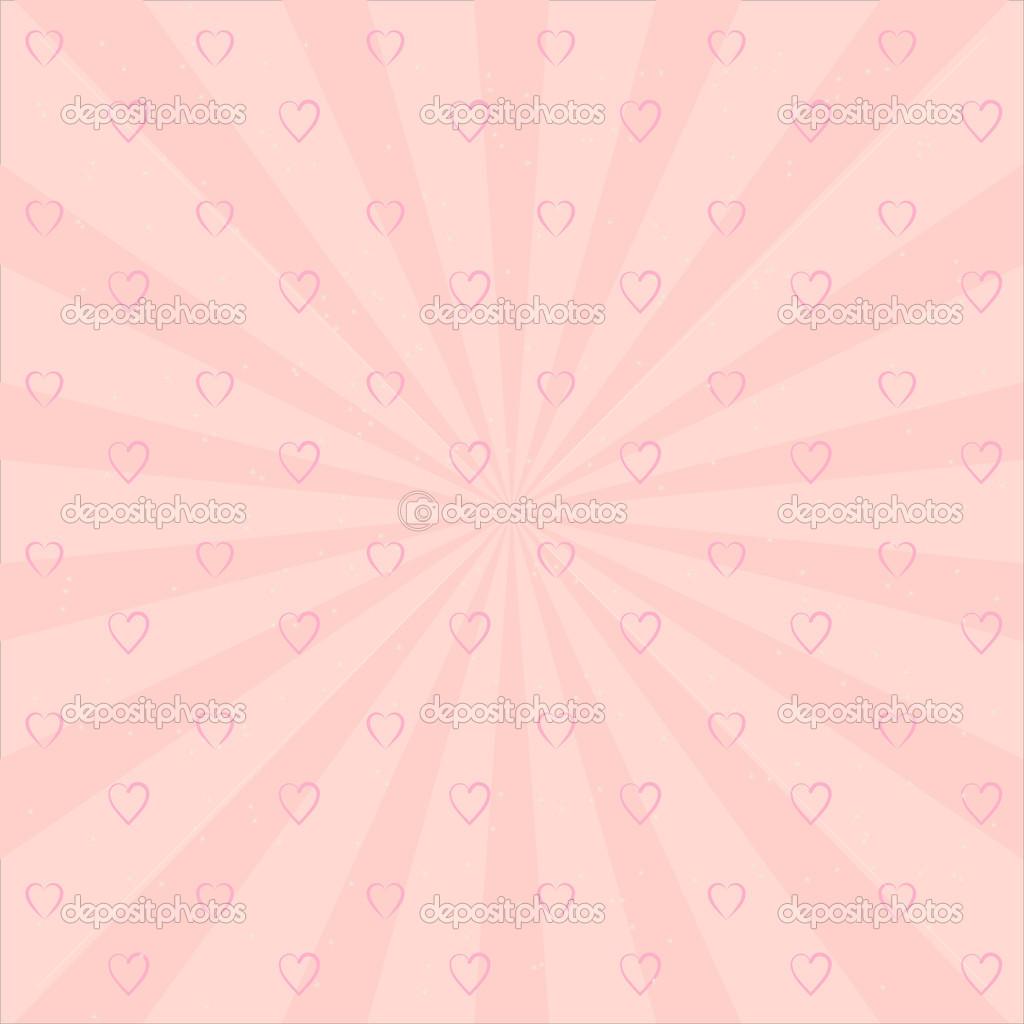 fondo con corazones de color rosa y estrellas — Archivo Imágenes ...