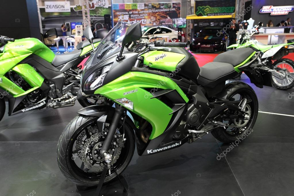 BANGKOK - MARCH 25 : Kawasaki Ninja 650 Motorcycle on display at