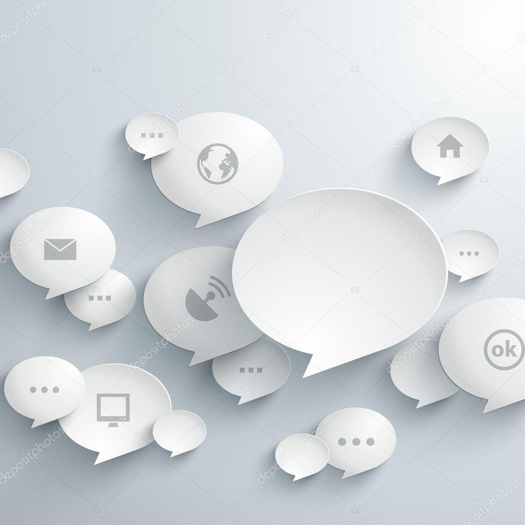 Abstract 3D Bubble Speech