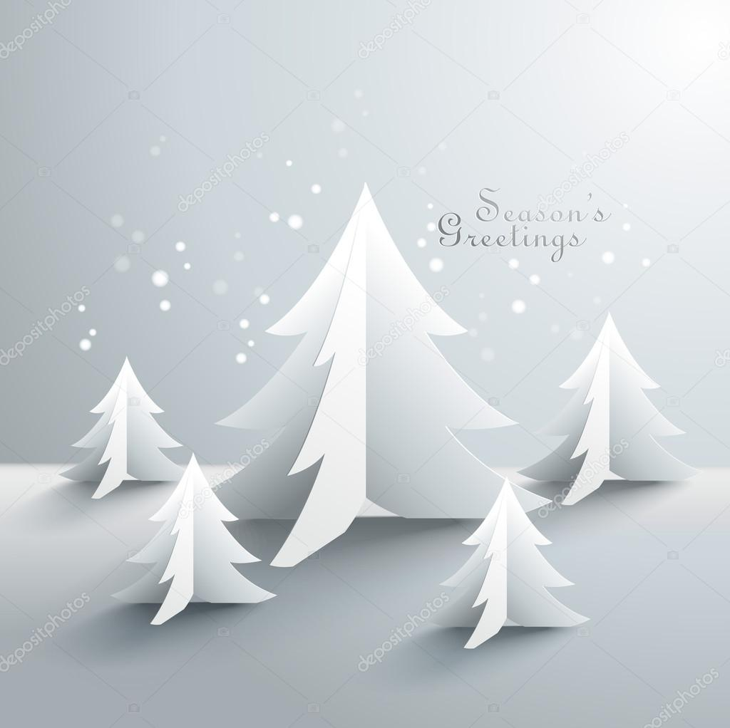 3d Paper Christmas Tree.Abstract 3d Paper Christmas Trees Stock Vector C Yienkeat