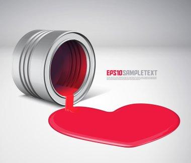 Vector Spilled Paint - Heart