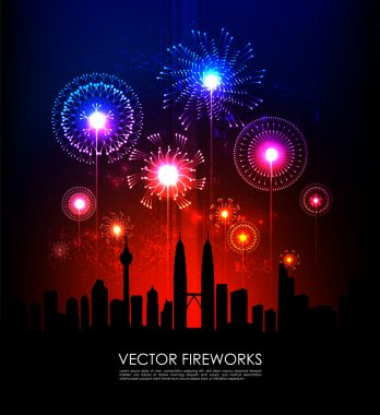 Fireworks and The Petronas Twin Towers