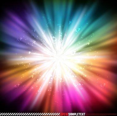 Colorful Vector Explosive Glow stock vector