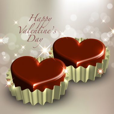 Valentine's Chocolate Greeting Card clip art vector