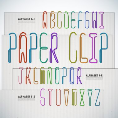 Alphabet Shaped Paper Clip