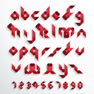 Ribbon Font Set