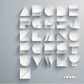 papírové grafické abeceda sada