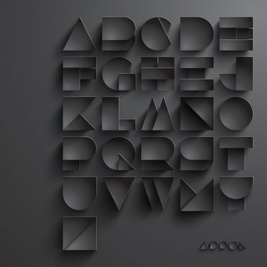 Vector Paper Graphic Alphabet Set stock vector