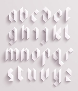 Paper Graphic Alphabet Set