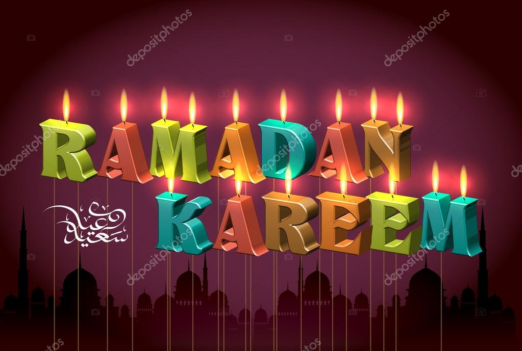 Vector Ramadan Candles Translation Of Jawi Text Eid Mubarak May You Enjoy A Blessed Festival Premium Vector In Adobe Illustrator Ai Ai Format Encapsulated Postscript Eps Eps Format