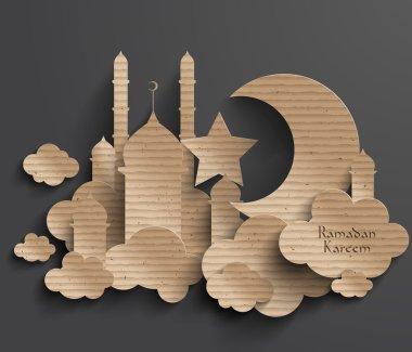 3D Cardboard Mosque.