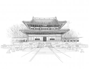 Sketching of Korean Traditional Palace