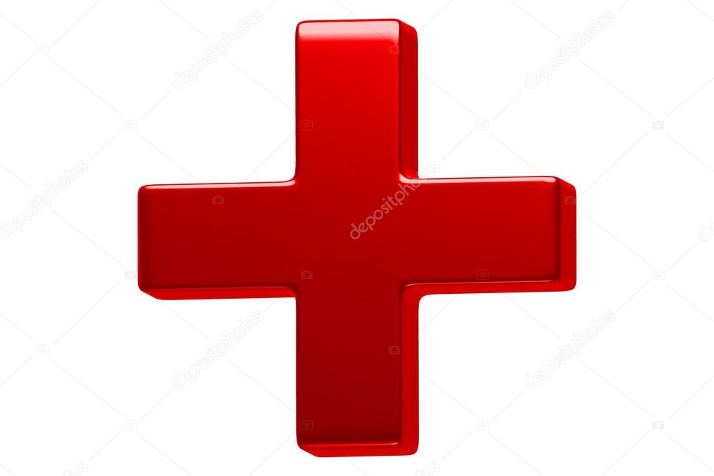 3d plus red sign � stock photo 169 arnonbaba 38680119