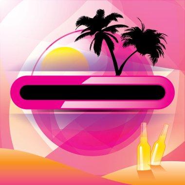 Tropical Getaway Vector Elements