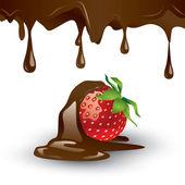 Schokolade - bedeckte stawberry