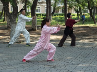 Morning exercises - tai chi chuan