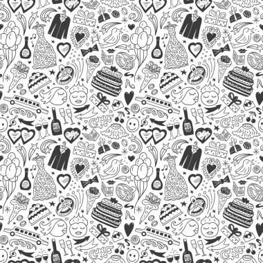 wedding - seamless pattern