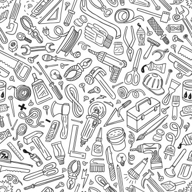 Working tools - seamless vector pattern