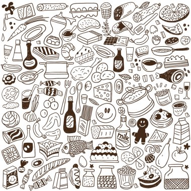 Food doodles collection