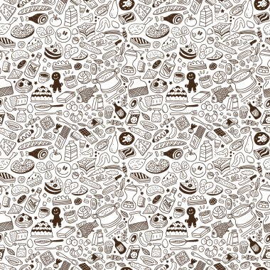 food - seamless pattern